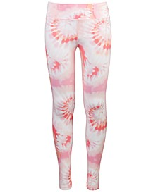 Big Girls Tie-Dyed Foldover Leggings, Created For Macy's