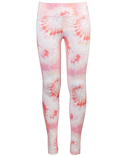Ideology Big Girls Tie-Dyed Foldover Leggings, Created For Macy's