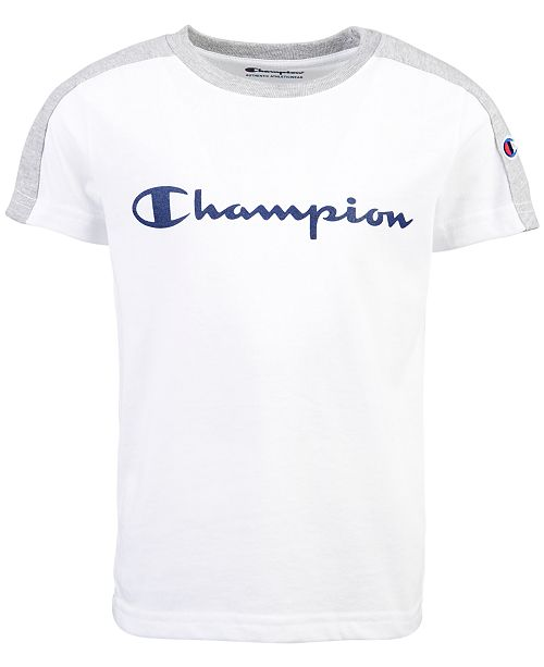 Champion Toddler Boys Colorblocked Logo-Print T-Shirt