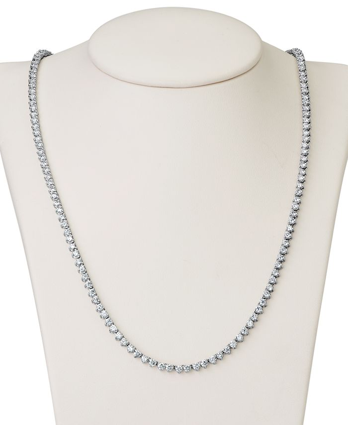 """Macy's - Certified Diamond All-Around 17"""" Tennis Necklace (6 ct. t.w.) in 14k White Gold"""