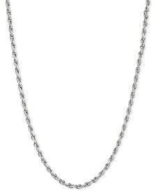 "Rope Link 22"" Chain Necklace in Sterling Silver"