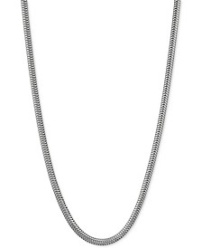 "Snake Link 20"" Chain Necklace in Sterling Silver"