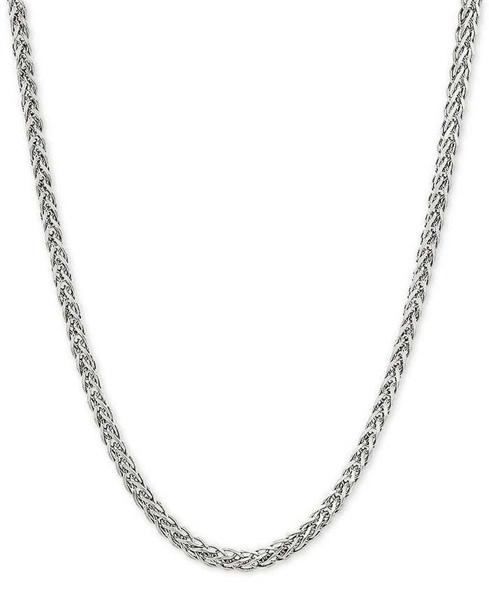 """Giani Bernini - Wheat Link 24"""" Chain Necklace in Sterling Silver"""