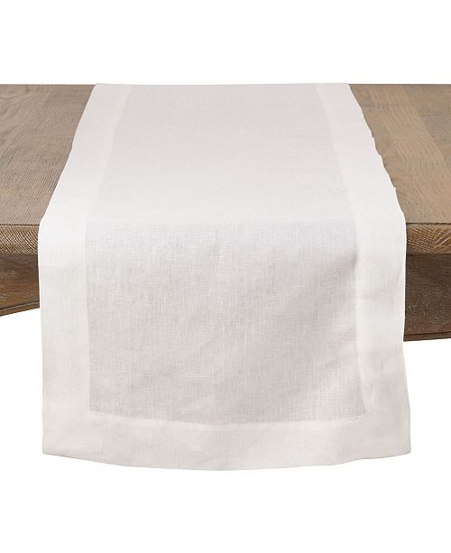 Saro Lifestyle Simply Linen Table Runner