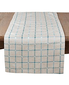 Long Table Runner with Checkered Print