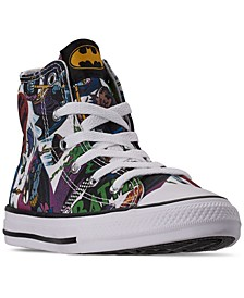 Little Boys Chuck Taylor All Star DC Comics Batman High Top Casual Sneakers from Finish Line