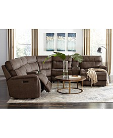 Hutchenson Fabric and Leather Sectional Sofa Collection