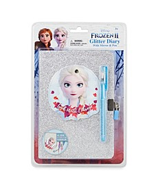 Frozen II Glitter Diary with Mirror and Gel Pen