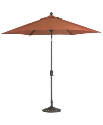 Chateau Outdoor 9' Push Button Tilt Umbrella with Base in Sunbrella® Fabric, Created for Macy's
