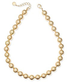"""Gold-Tone Beaded Collar Necklace, 16"""" + 2"""" extender, Created for Macy's"""