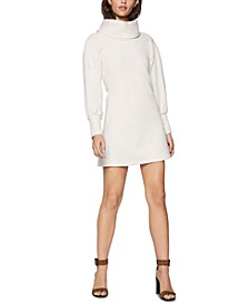 Funnel-Neck Mini Sweatshirt Dress