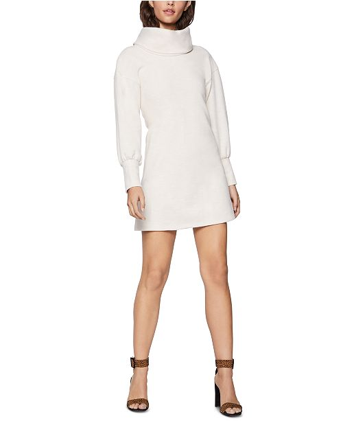 BCBGeneration Funnel-Neck Mini Sweatshirt Dress