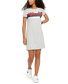 Foil Graphic-Print T-Shirt Dress