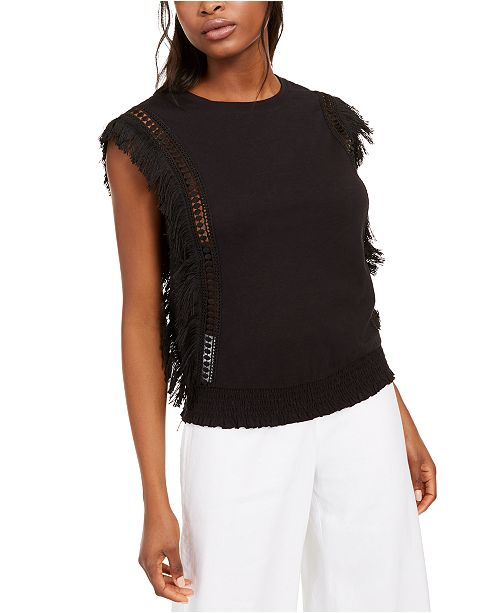 INC International Concepts INC Fringe Tank Top, Created For Macy's