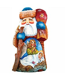 Woodcarved and Hand Painted Wonderful Wish Santa Figurine