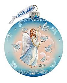 Angel Doves Ball Glass Ornament
