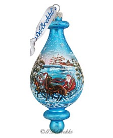 Troika Bell Glass Ornament