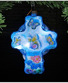 Led Butterflies Glass Ornament