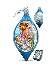 Angelic Touch Drop Glass Ornament
