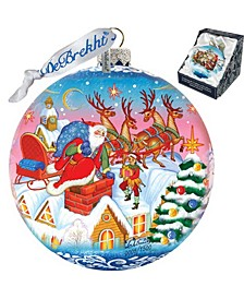 Limited Edition Oversized Special Delivery Ball Glass Ornament