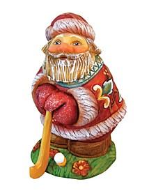 Mini Golfer Santa On Base Figurine