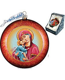 Mary and Joseph Glass Ornament
