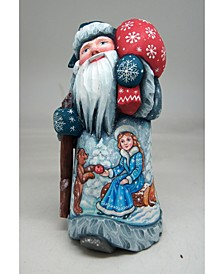 Woodcarved and Hand Painted Mr. and Mrs. Santa Masterpiece Signature Figurine