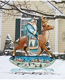 Reindeer Santa Free Standing Garden Decor