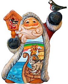 Tiny Tale Scenic Santa with Noah Ark Figurine