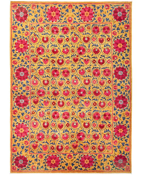 "Timeless Rug Designs CLOSEOUT! One of a Kind OOAK2786 Yellow 10'3"" x 14'3"" Area Rug"