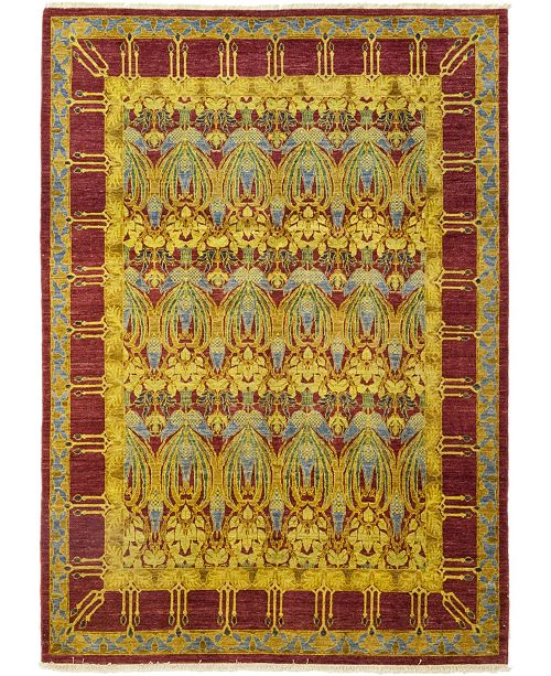 """Timeless Rug Designs CLOSEOUT! One of a Kind OOAK149 Yellow 8'1"""" x 10'2"""" Area Rug"""