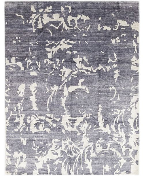 """Timeless Rug Designs CLOSEOUT! One of a Kind OOAK316 Slate 9'3"""" x 12'1"""" Area Rug"""