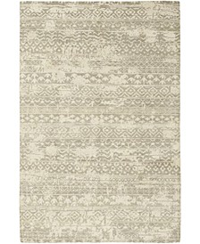 """CLOSEOUT! One of a Kind OOAK336 Cream 6'1"""" x 9'1"""" Area Rug"""