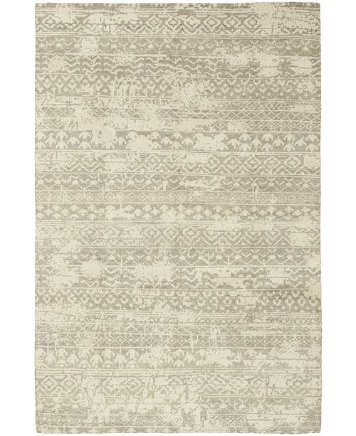 """Timeless Rug Designs CLOSEOUT! One of a Kind OOAK336 Cream 6'1"""" x 9'1"""" Area Rug"""