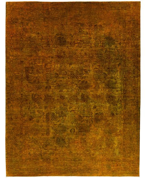 """Timeless Rug Designs CLOSEOUT! One of a Kind OOAK451 Caramel 9'1"""" x 11'10"""" Area Rug"""