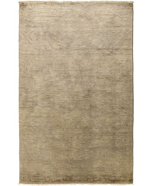 """Timeless Rug Designs CLOSEOUT! One of a Kind OOAK480 Beige 4'1"""" x 6'6"""" Area Rug"""