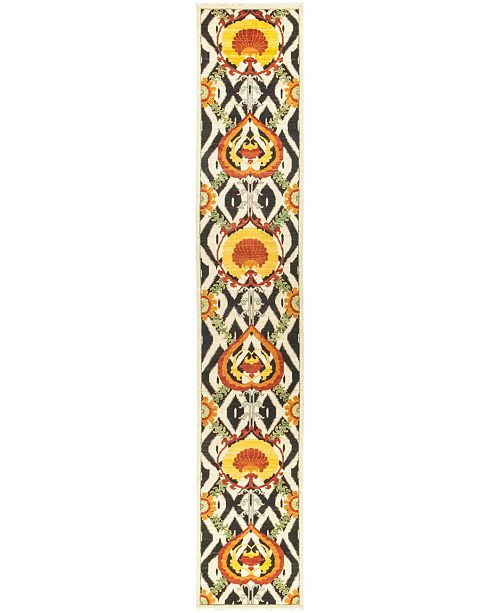 """Timeless Rug Designs CLOSEOUT! One of a Kind OOAK519 Yellow 2'6"""" x 14'10"""" Runner Rug"""