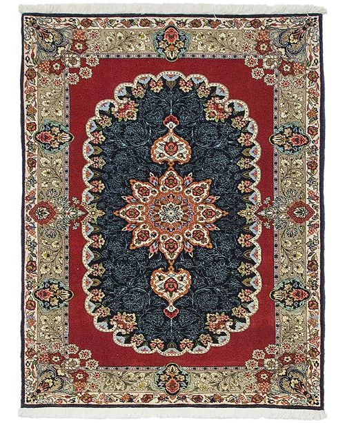 """Timeless Rug Designs CLOSEOUT! One of a Kind OOAK590 Red 3'6"""" x 4'8"""" Area Rug"""