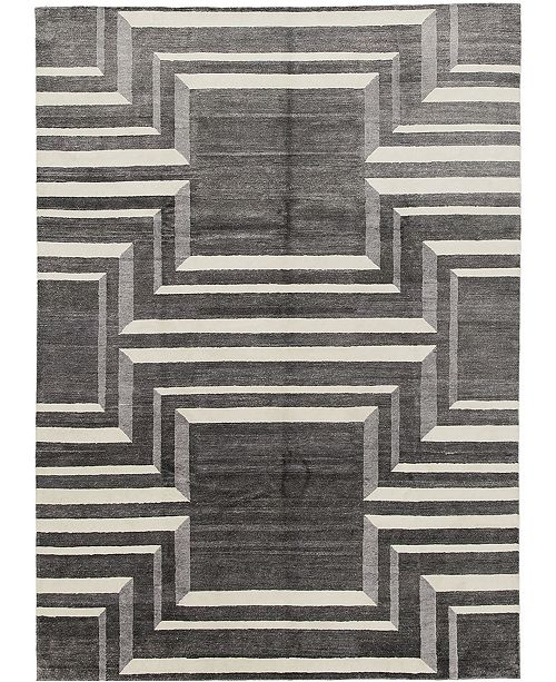"""Timeless Rug Designs CLOSEOUT! One of a Kind OOAK610 Slate 9' x 12'2"""" Area Rug"""