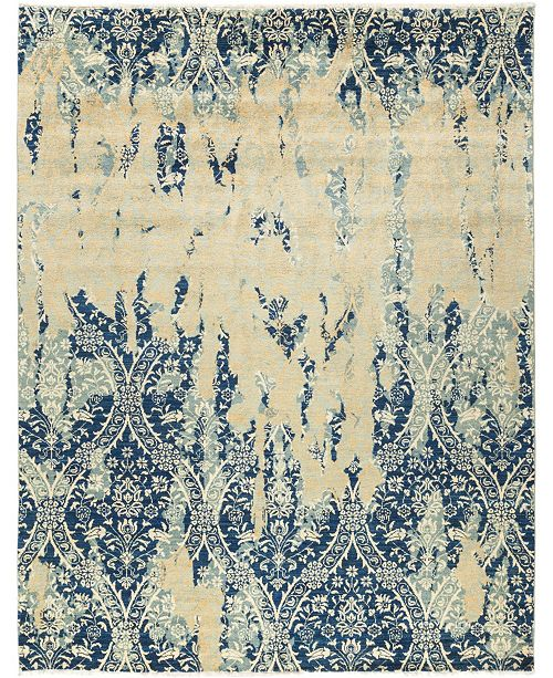 "Timeless Rug Designs CLOSEOUT! One of a Kind OOAK691 Sapphire 8' x 10'4"" Area Rug"