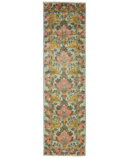 """Timeless Rug Designs CLOSEOUT! One of a Kind OOAK866 Mint 2'7"""" x 9'8"""" Runner Rug"""