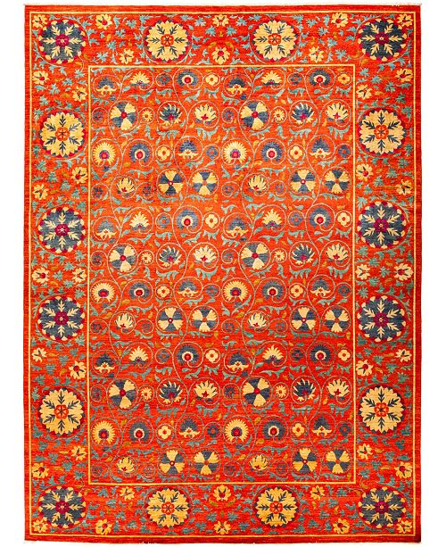 "Timeless Rug Designs CLOSEOUT! One of a Kind OOAK1243 Red 10'4"" x 13'10"" Area Rug"