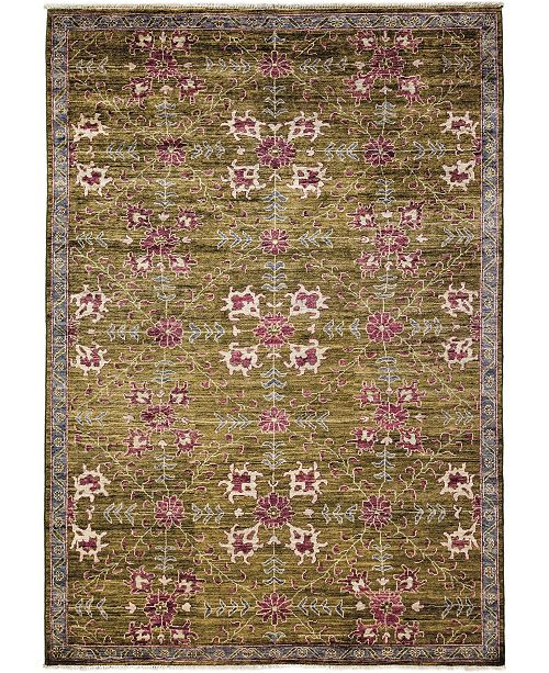 """Timeless Rug Designs CLOSEOUT! One of a Kind OOAK3628 Sage 6'4"""" x 8'10"""" Area Rug"""