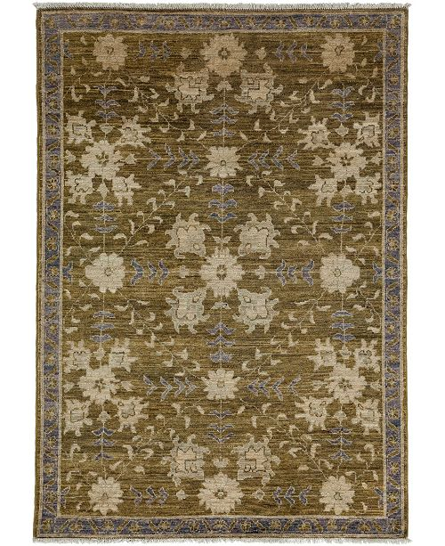 """Timeless Rug Designs CLOSEOUT! One of a Kind OOAK3472 Sage 4'3"""" x 6'1"""" Area Rug"""