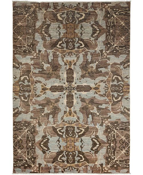 "Timeless Rug Designs CLOSEOUT! One of a Kind OOAK3516 Mocha 6' x 8'9"" Area Rug"