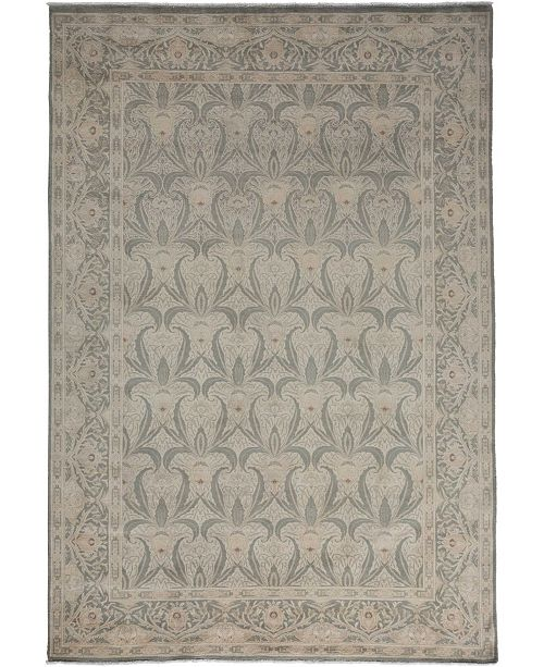 """Timeless Rug Designs CLOSEOUT! One of a Kind OOAK3481 Silver 6' x 8'10"""" Area Rug"""