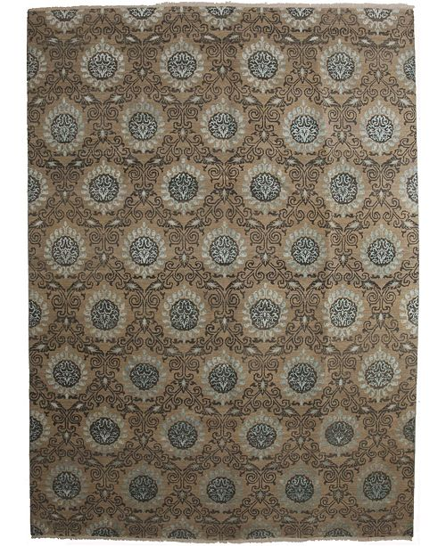 "Timeless Rug Designs CLOSEOUT! One of a Kind OOAK2650 Hazelnut 9'1"" x 12'4"" Area Rug"