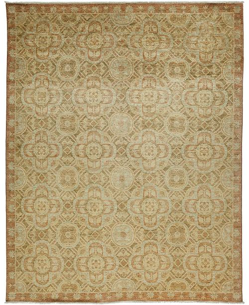 "Timeless Rug Designs CLOSEOUT! One of a Kind OOAK3418 Hazelnut 8'4"" x 10'4"" Area Rug"