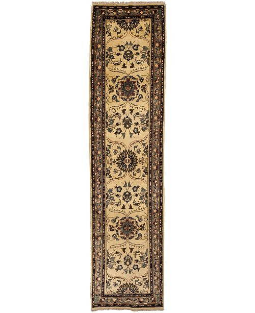 """Timeless Rug Designs CLOSEOUT! One of a Kind OOAK2633 Beige 2'9"""" x 11'1"""" Runner Rug"""