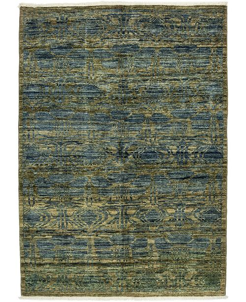 "Timeless Rug Designs CLOSEOUT! One of a Kind OOAK3283 Moss 4'4"" x 5'10"" Area Rug"